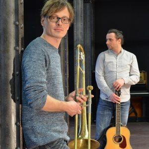 """Matthias Ehrig (Gitarre) und Andreas Uhlmann (Posaune) sind """"Mehr als Wir"""""""